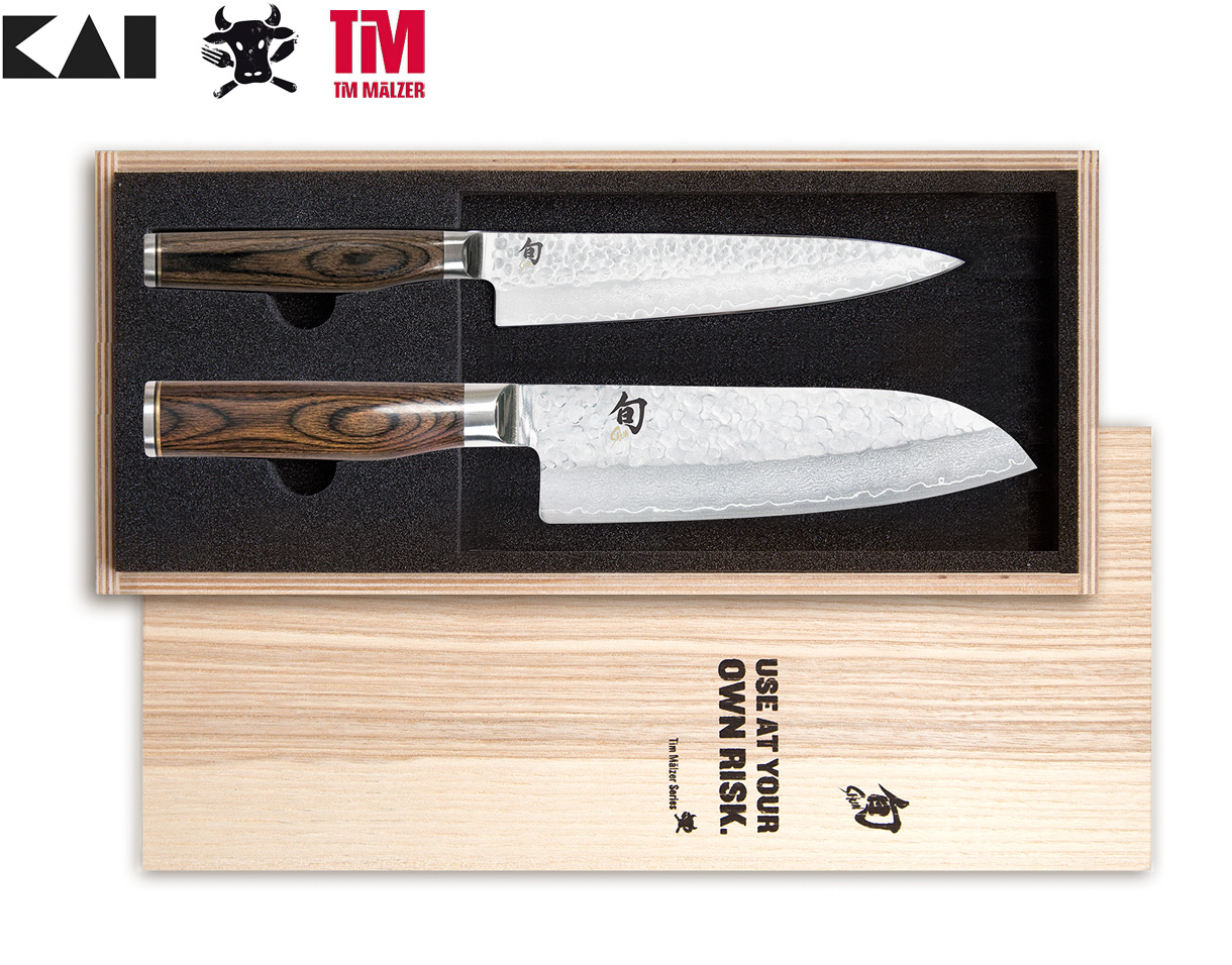 kai shun premier tim m lzer messerset allzweckmesser 16 cm santoku 18 cm tdms 230. Black Bedroom Furniture Sets. Home Design Ideas